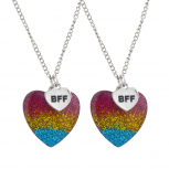 Gold Tone Watermelon Novelty BFF Best Friends Necklace Set 2PC