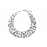 Crystal Stone Bib Chain Necklace