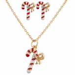 Christmas Holiday Gold Candy Kane Set