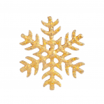 Glitter Snow Flake Xmas Christmas Snowflake Brooch Pin