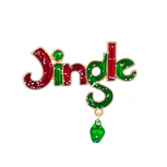 Jingle Balls Snow Xmas Dangle Brooch Pin Christmas