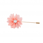 Fabric Pink Flower Floral Pin Brooch Broach