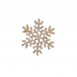 Goldtone Christmas Holiday  Snowflake Brooch