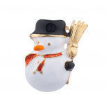Goldtone Christmas Holiday Snowman Brooch