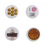 Hamburger Pizza Donut Ice Cream Assorted Food Brooch Pin Set