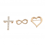 "Goldtone ""Infinite love"" Pin Set (3PC)"