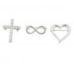 "Silvertone ""Infinite love"" Pin Set (3PC)"