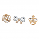 "Goldtone ""Royal"" Pin Set (3PC)"