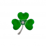 Four Leag Clover Shamrock Brooch Pin