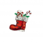 Holiday Christmas Stocking Stuffer Gifts Candy Cane Brooch Pin