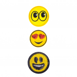 Emoji Faces Novelty Iron Patches Set (3PCS)