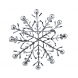 SilverTone Glitter Rhinestone Christmas Xmas Snowflake Brooch