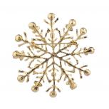 GoldTone Glitter Rhinestone Christmas Xmas Snowflake Brooch Pin