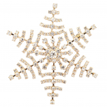 Snow Flake Pave Xmas Christmas Pin Brooch Snowflake