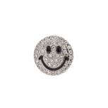 Pave Bling Be Happy Don't Worry Smile Stretch Ring.