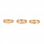 Simple Best Friends Forever BFF Ring Set (3 PC) Size 6