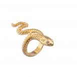 Wrap Around Serpent Snake Pave Eyes Sized Ring