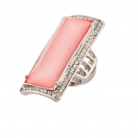 Pink Pave Crystal Cocktail Stretch Ring