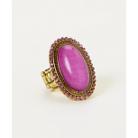 Pink Oval Stretch Ring