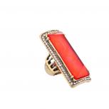 Ancient Princess Statement Ring Red Orange