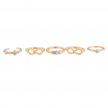 Infinity Pave Cross Ring Set