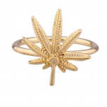 Goldtone Marijuana Weed Ring