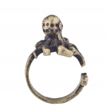 Burnish Gold Tone Vintage Sea Monster Octopus Statement Ring