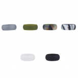 Multicolor Silicone Wedding Band Ring Set 6PC Size 8
