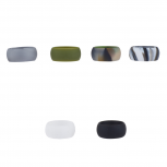 Multicolor Silicone Wedding Band Ring Set 6PC Size 10