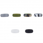 Multicolor Silicone Wedding Band Ring Set 6PC Size 11
