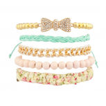 Lovely Lady Woven Beaded Bracelet Set