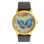 Fade Out Butterfly Analog Wrist Watch