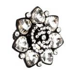 Black Rose Jewel Stretch Ring
