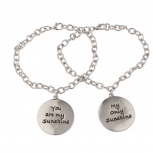 You Are My Sunshine Only Sunshine BFF Best Friends Forever Bracelet Set (2 PC).