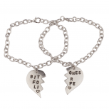 Bitches for Life Heart BFF Best Friends Forever Bracelet Set (2 PC).