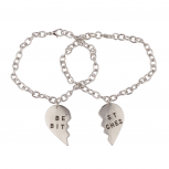 Best Bitches Broken Heart BFF Best Friends Forever Bracelet Set (2 PC).