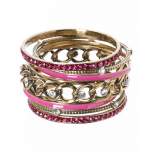 Fuchsia Glam (7 piece) Bangle Set