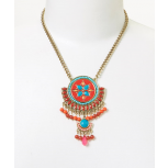 Coral Turquoise Deluxe Pendant Necklace