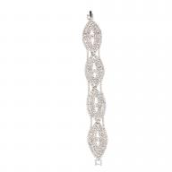 Bridal Pave Evil Eye Crystal Protect Clasp Bracelet
