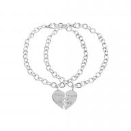 Partners in Crime BFF Best Friends Heart Charm Bracelets (2 PC)