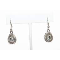 Tear Drop Clear Rhinestone Drop Dangle Earrings