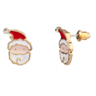 Santa Claus Christmas Xmas Rhinestone Stud Earrings