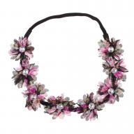 Stretch Fit Floral Headband Head Crown Flower Crown Head Piece PURPLE