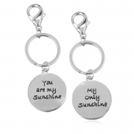 You Are My Sunshine Only Sunshine BFF Best Friends Forever Matching Keychain Set (2 PC).