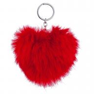 Red Pom Pom Keychain Bag charm