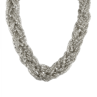 Mesh Braided Statement Necklace.
