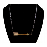 Sideways Arrow Pendant Necklace