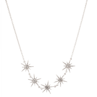 Star Sun Pave Crystal Bridal Statement Necklace