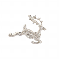 Christmas Holiday Sparkle Reindeer Pin Brooch
