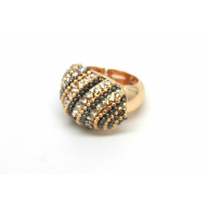 Rhinestone Beaded Stretch Bubble Ring